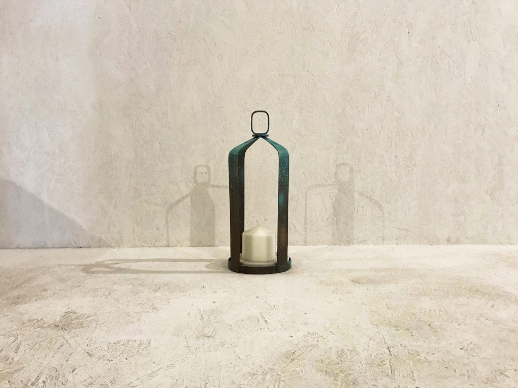 patina lantern medium